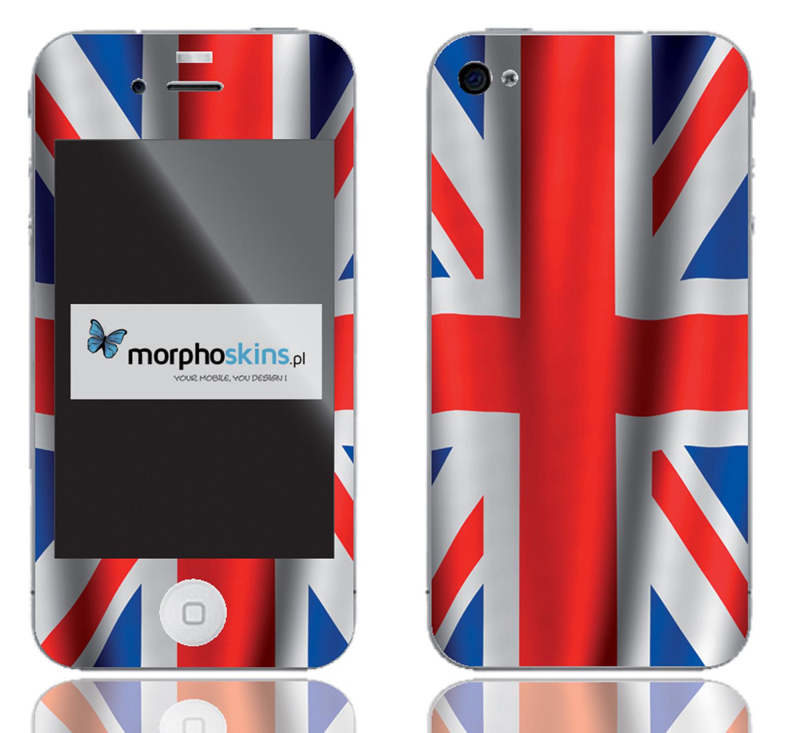 naklejka na telefon - flaga UK - skin Morpho