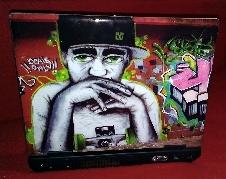 Naklejka na laptopa Skater - Morphoskins.pl