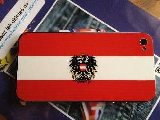 naklejka na telefon iphone4 iphone 4 flaga Austria