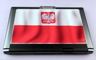 Naklejka flaga Polski na laptopa